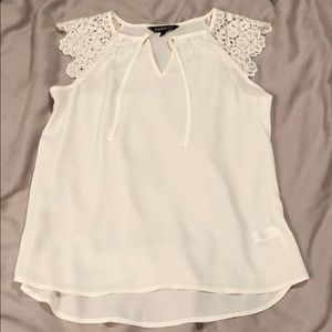 Express XS lace cream top
